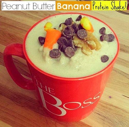 Peanut Butter Banana Protein Shake!
