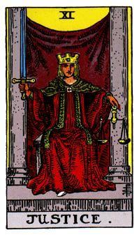 LA JUSTICIA, Significado de las cartas del Tarot
