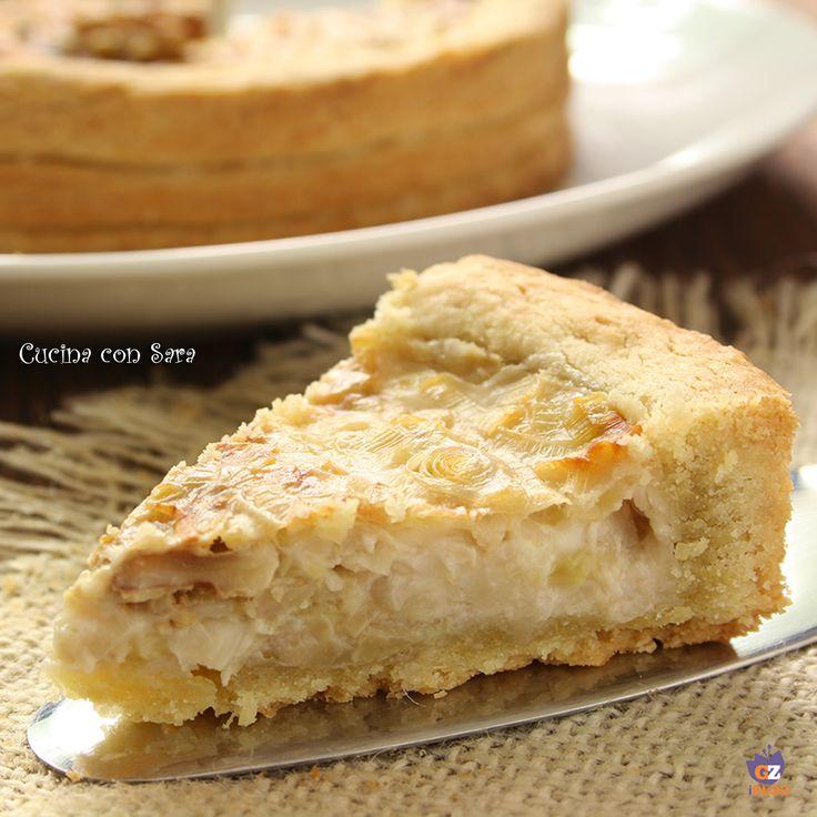Torta porri e noci del maestro Giorilli - base di pasta sableè ...
