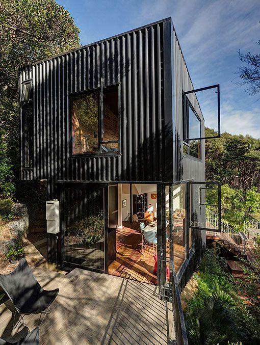 Fachada de vivienda unifamiliar moderna