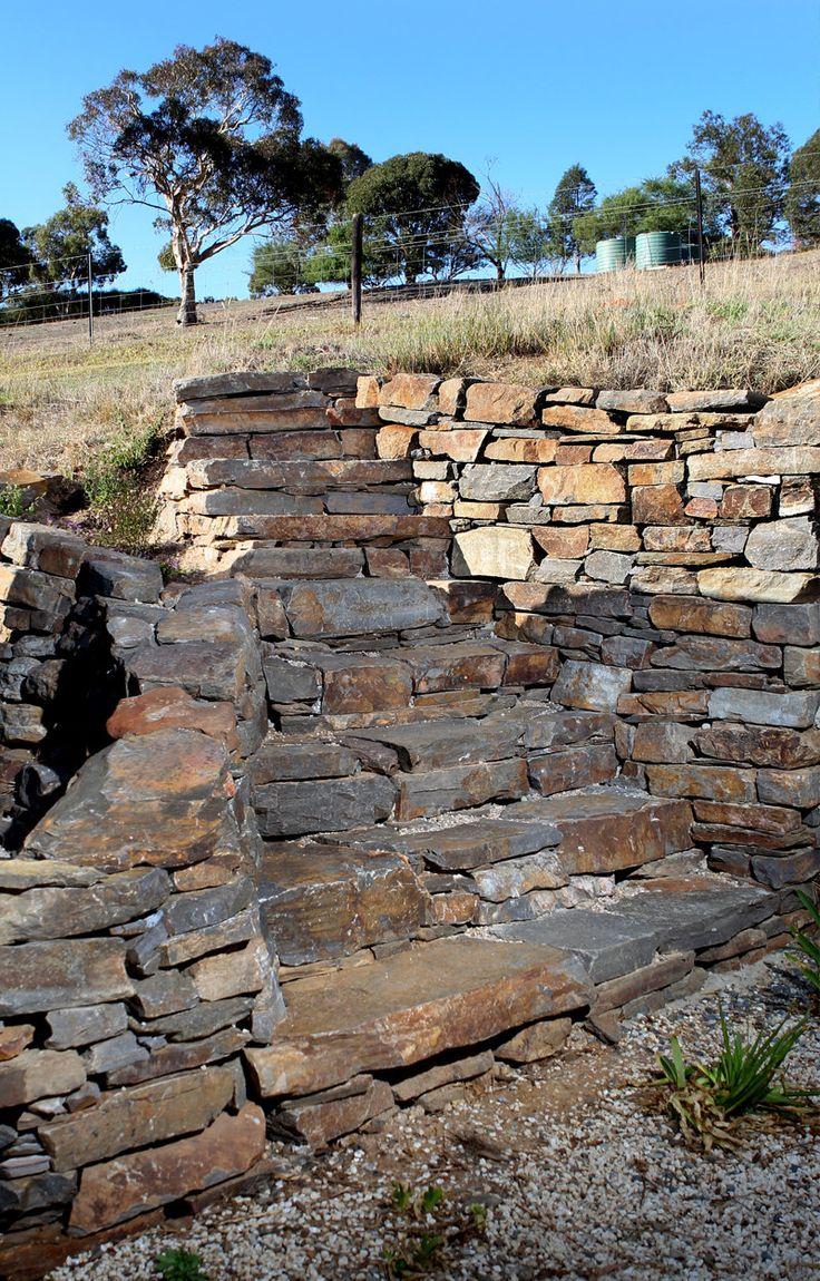 Stonemason, Adelaide's drystone retaining wall specialist. www.tomchadwickstonemasonry.com