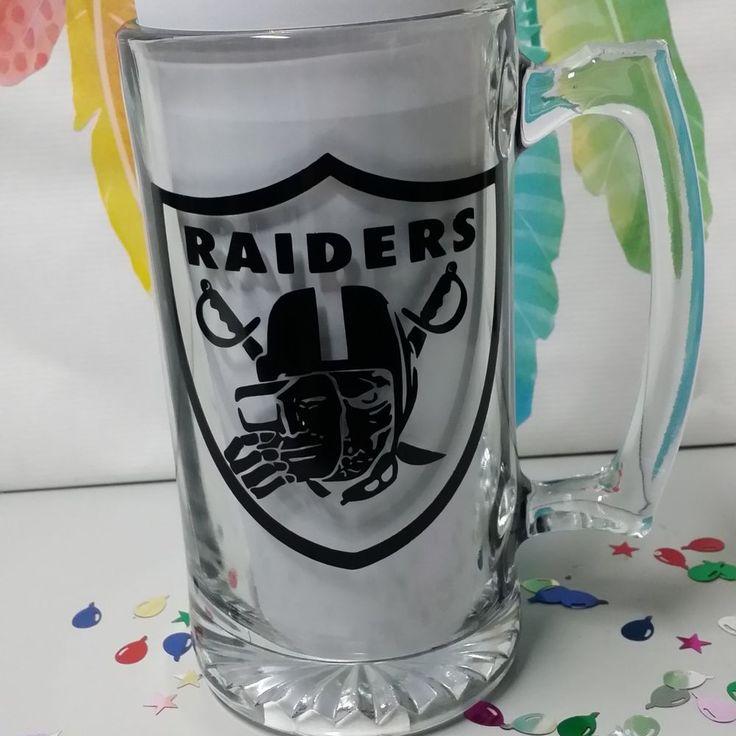 Oakland Raiders Beer Mug Glass 25.73 0z | Sports Mem, Cards & Fan Shop, Fan Apparel & Souvenirs, Football-NFL | eBay!