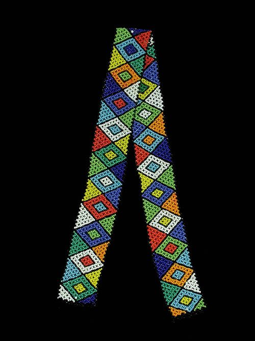 Africa | Contemporary beaded belt from the Zulu people of South Africa