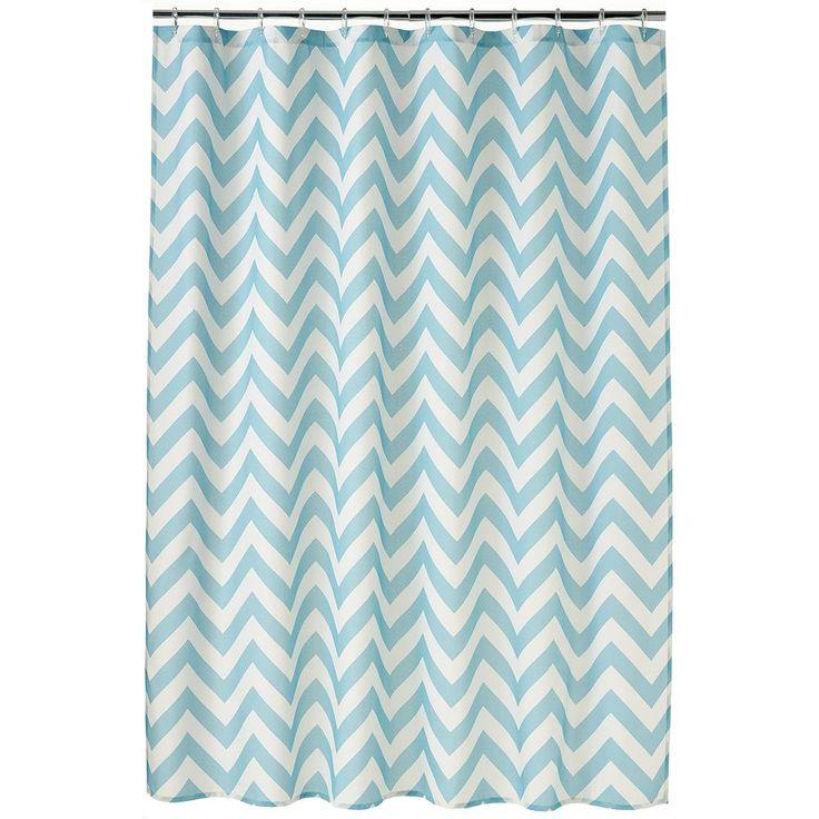 Home Classics® Chevron Fabric Shower Curtain, Blue