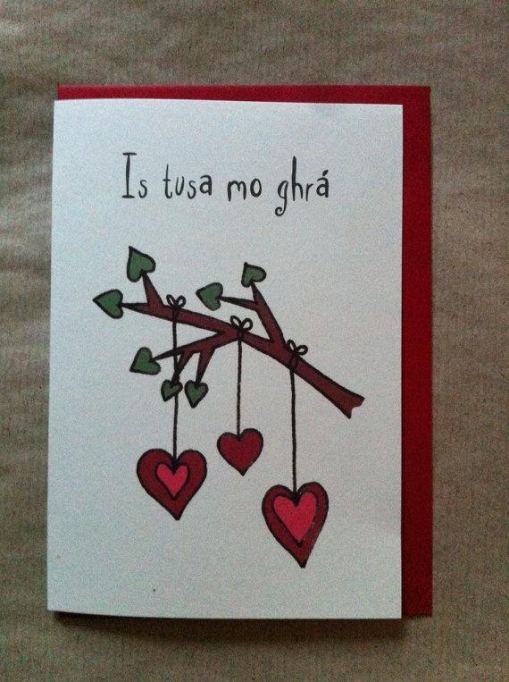 Cárta Vailintín le Gaeilge ó Chártaí Rúbaí!! An Irish language Valentine by Cártaí Rúbaí!!