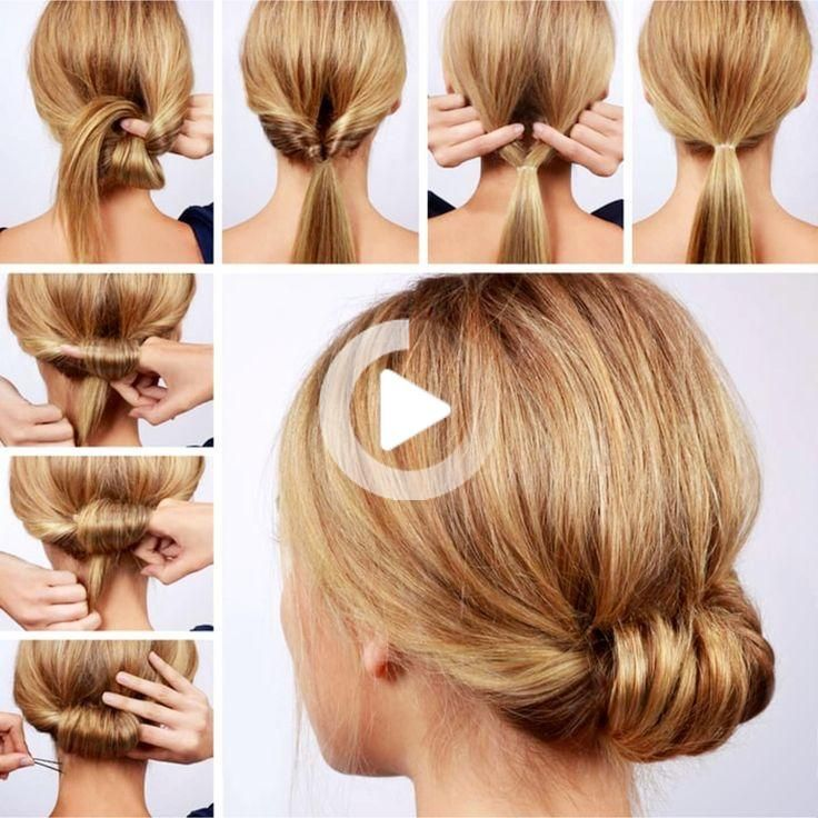 10 Easy Lazy Girl Hairstyle Ideas Step By Step Video Tutorials For Lazy Day Running Late Quick In 2020 Lazy Girl Hairstyles Easy Hairstyles For School Easy Hairstyles