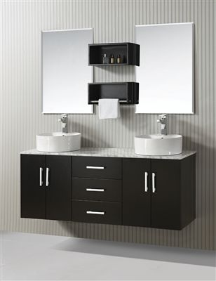 ica furniture modern wall mounted bathroom vanity