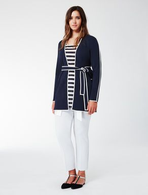 Cardigan with contrasting detail