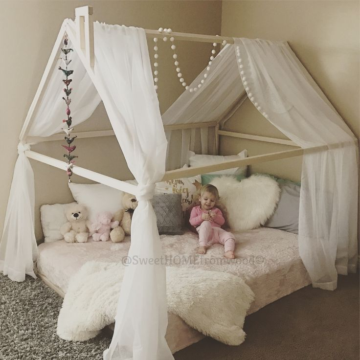 Toddler bed, house bed, tent bed, children bed, wooden house, wood house, wood nursery, kids teepee bed, wood house bed, wood bed frame