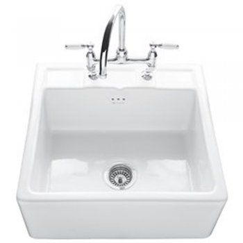 Caple Butler 600tl 1 0 Bowl White Ceramic Farmhouse Kitchen Sink