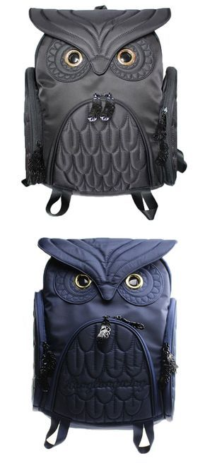 Unique Cool Owl Shape Solid Computer Backpack School Bag Travel Bag for big sale! It is so cute. Which color do you like? #owl #backpack #college #animal #cute #bag