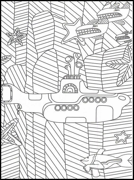 The Beatles 1 Dibujos Faciles Para Dibujar Para Ninos Colorear Submarino Para Colorear Submarino Amarillo Libro De Colores