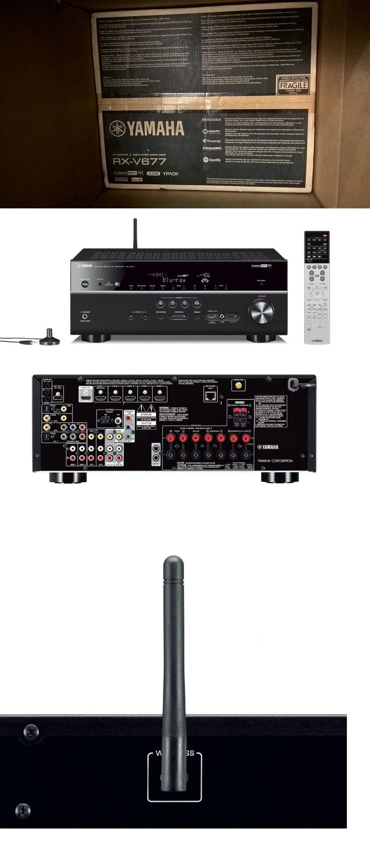 Home Theater Receivers: New! Yamaha Rx-V677 7.2-Channel Audio/Video Home Theater Receiver Built-In Wi-Fi -> BUY IT NOW ONLY: $469.95 on eBay!