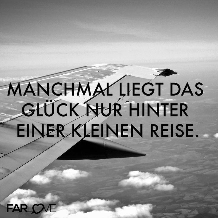 #Fernbeziehung - Manchmal liegt das Glück nur hinter einer kleinen Reise. http://www.farlove.de/