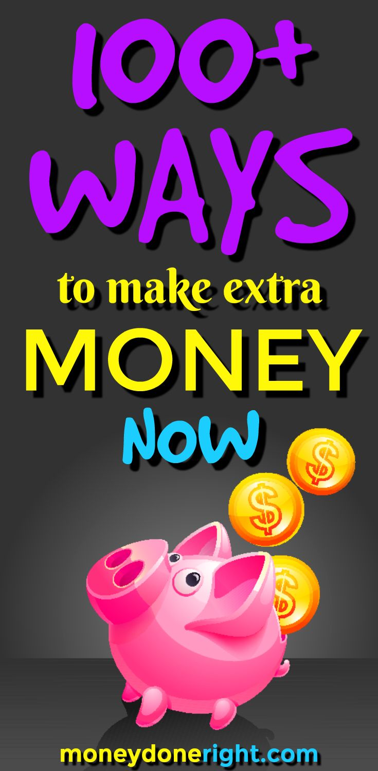 It's fun and easy to make extra money!  In this article, I have listed the best ways to make money from home.  There are ways to earn money online, ways to earn money around the house, ways to earn money on your phone, and over 100 other ways to earn money.  These are the top side hustles today!