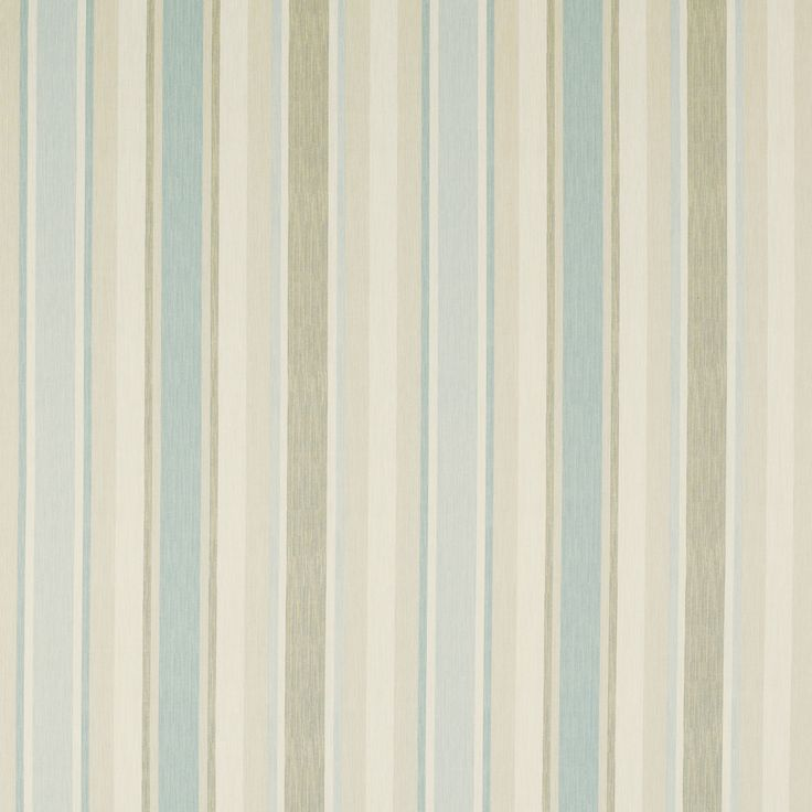 Awning Stripe Cotton/Linen Fabric Duck Egg (poss kitchen blind material)
