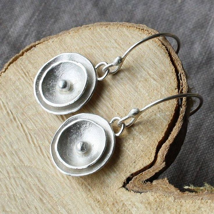 handmade silver poppy drop earrings by caroline cowen jewellery | notonthehighstreet.com