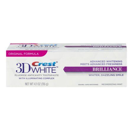 Crest 3D White Brilliance Vibrant Peppermint Whitening Toothpaste, 4.1 oz