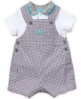 $36 Little Me Baby Boys' 2-Piece Polo & Auto Shortall Set