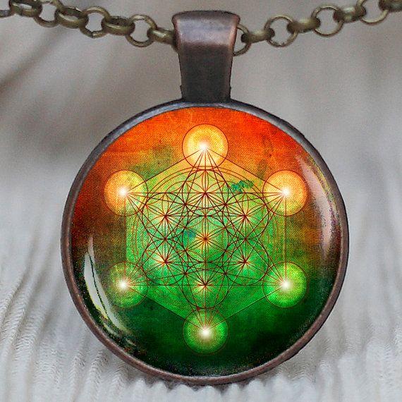 metatron cube pendant sacred geometry jewelry
