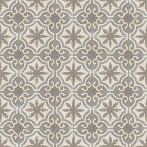 Moroccan Encaustic Cement Pattern Grey Tile gr05 | £ 2.50 | Moroccan Encaustic Cement Pattern Shades of Grey Tles | Best Tile UK | Moroccan ...
