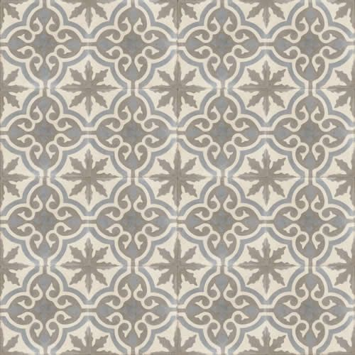 Moroccan Encaustic Cement Pattern Grey Tile gr05 | £ 2.53 | Moroccan Cement Tiles | Best Tile UK | Moroccan Tiles | Cement Tiles | Encaustic...