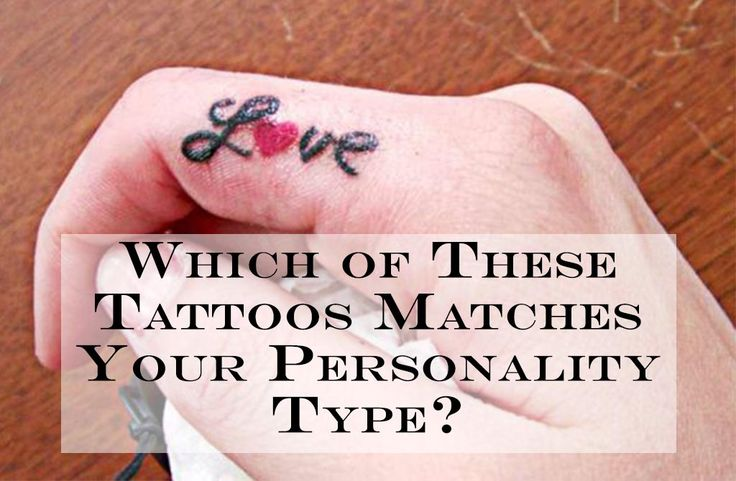 which of these tattoos matches your personality type did