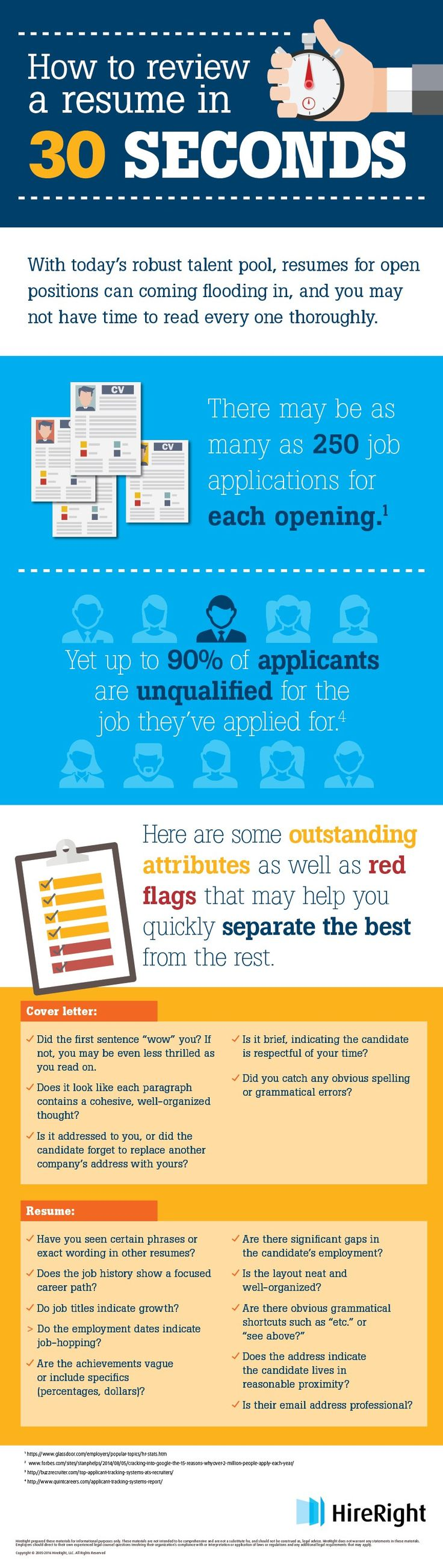 How To Review A Resume In 30 Seconds Infographic