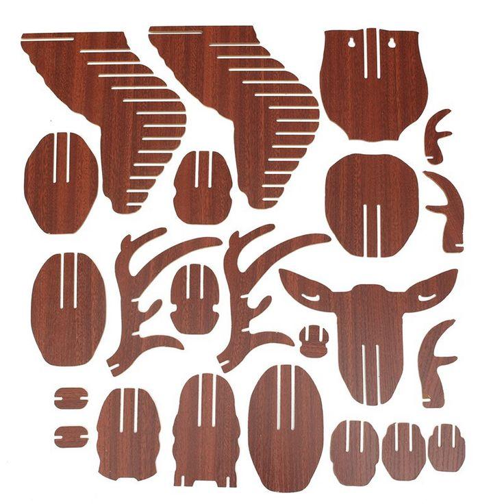 Aliexpress.com: Comprar Excelente 3D Rompecabezas De Madera Modelo DIY del Colgante de Pared Cabeza de Ciervo Alce Regalo Artesanías Casa Decor Figurines Escultura de Madera Animal de la Fauna de artesanía decoración de la pared fiable proveedores en Tingtop Trading CO Ltd.
