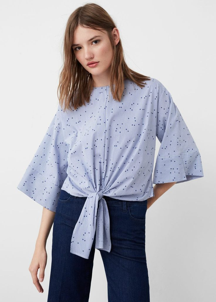 Blouse à nœud en coton -  Femme | MANGO France - dress and blouse, white shirt blouse, ladies printed blouses *sponsored https://www.pinterest.com/blouses_blouse/ https://www.pinterest.com/explore/blouse/ https://www.pinterest.com/blouses_blouse/blouse-designs/ http://www.urbanoutfitters.com/urban/catalog/category.jsp?id=W_APP_BLOUSES