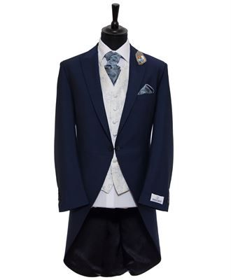 French Navy Blue Cavendish Morning Suit from Hugh Harris Formal