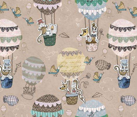 High Society fabric by mulberry_tree on Spoonflower - custom fabric