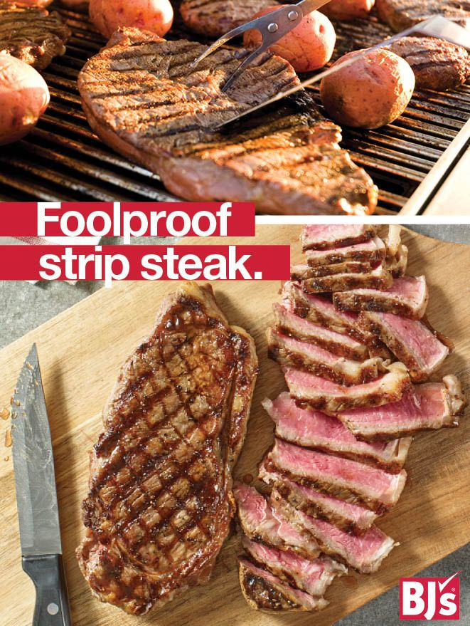 No-Fail Recipe - Grill perfect steak every time with this step-by-step tutorial. http://stocked.bjs.com/food/foolproof-grilled-strip-steak