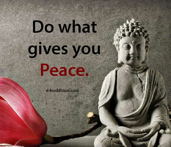 Do what gives you peace