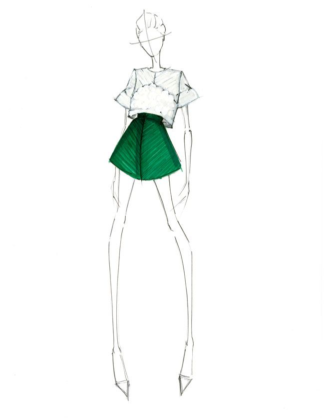 Design and Illustration By: Alessandra De Gregorio #alessandradegregorio #Alessandra De Gregorio #Fashion #design #illustration #fashion Illustration #Skirt #top