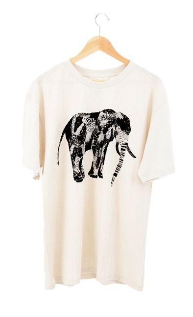 RCM CLOTHING / T-SHIRT ELEPHANT  Sustainable Hemp wear, 55% hemp 45% organic cotton jersey http://www.rcm-clothing.com/