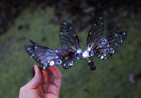 Stunning Purple Fairy Wing Fairy by JustAsStrangeAsIAm on Etsy