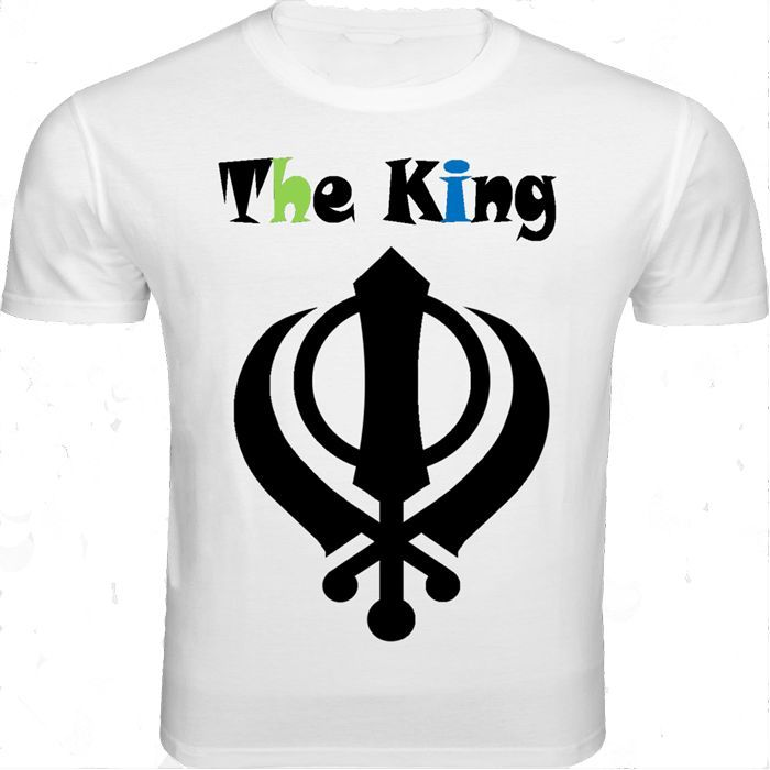 "This white round necked half-sleeved T-shirt is graphically designed especially for all those macho-men with the ""Be Punjabi"" attitude. Feel like the ""King"" when you wear this T-shirt with a pair of denims."