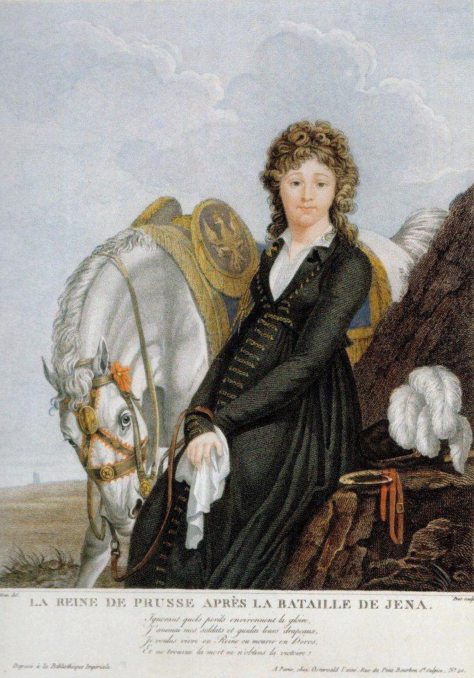 """""""La reine de Prusse après la bataille de Jena""""; Queen Louise of Prussia after the battle of Jena / La Reina Louise de Prussia después de la batalla de Jena."""