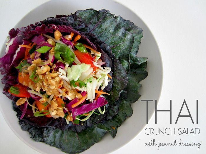 easy thai salad, thai peanut dressing, peanut dressing. I didnt add the peppers or peanuts