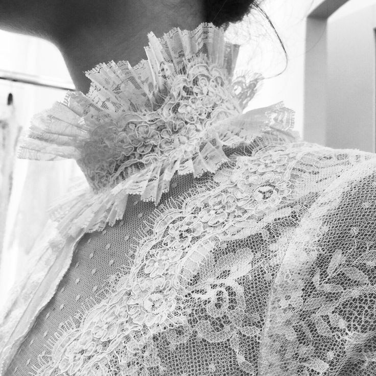 Vintage bridal collar references, anyone? #bridal2016 #costarellosbride #fittings #NewYorkBridalWeek