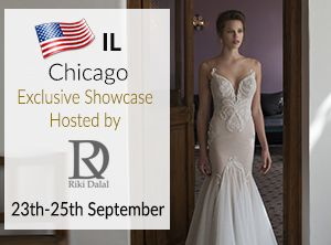 Fabulous Trunk Show Chicago Illinois USA with Riki Dalal Haute Couture Wedding Dress