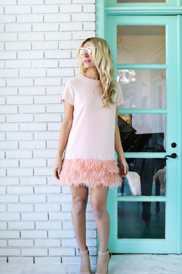 Feather Blocked Dress DIY - A Beautiful Mess