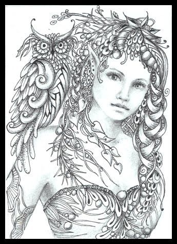 fairy tangles minerva - Love Poem Coloring Pages For Adults