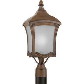 21-In H Rustic Sienna Post Light Lw170460141