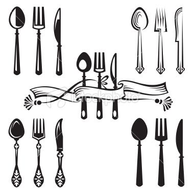 knife, fork and spoon Royalty Free Stock Vector Art Illustration