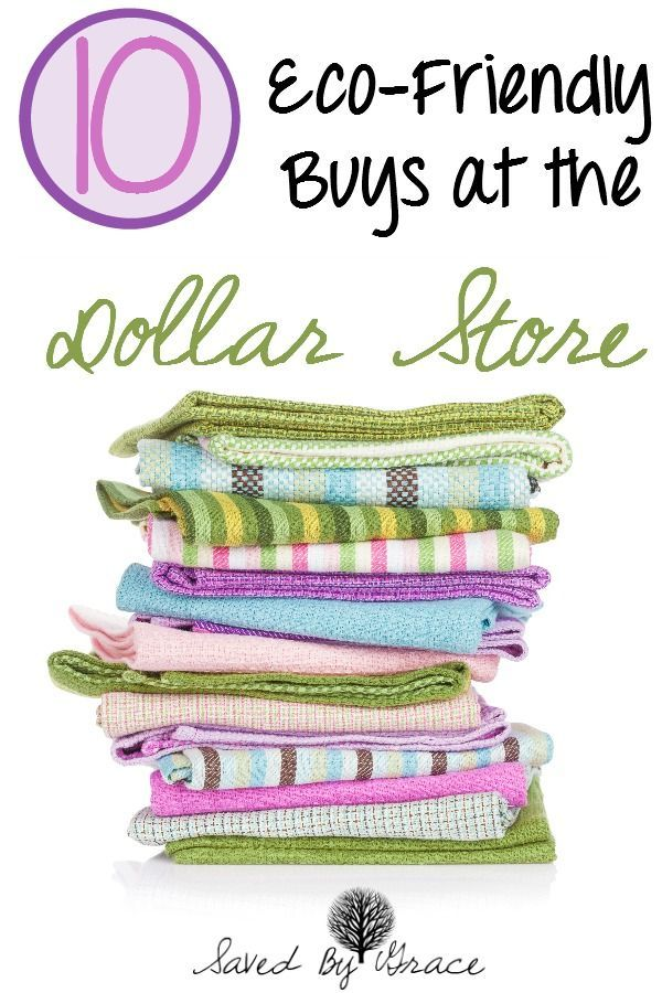 10 Eco-Friendly Buys at the Dollar Store-be green on a budget with these frugal and easy buys from your nearest dollar store.