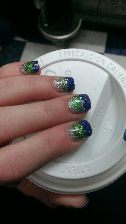 Seahawks nails by Sonny at Tiny nails and spa in gig harbor