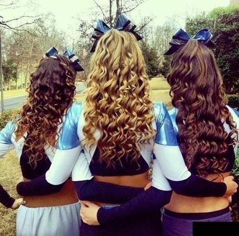 ##Cheerleaders hair,  WEN I SAY GO, YALL SAY EAGLES, GO EAGLES