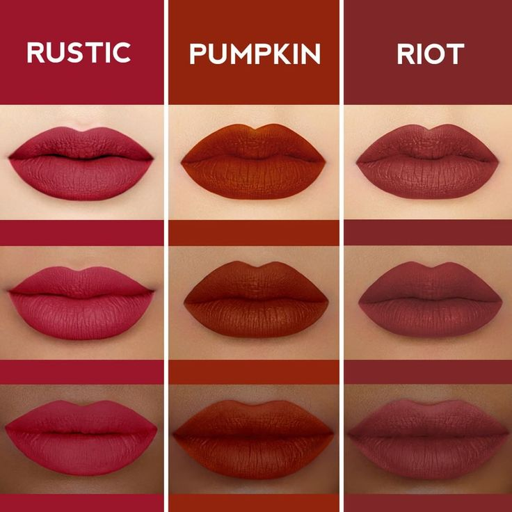 Rusty reds, all in stock now!  Pick a fave, tag a friend! #limecrime #velvetines